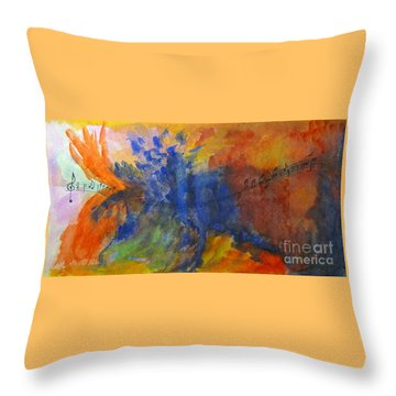 Let Your Music Take Wing Throw Pillow
