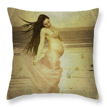Let Your Soul And Spirit Fly Throw Pillow by Linda Lees