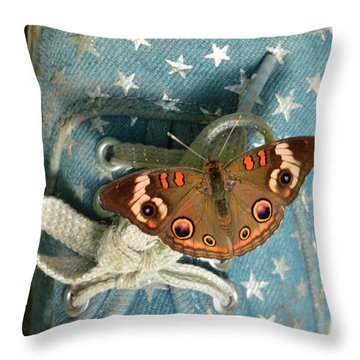 Let Your Spirit Fly Free- Butterfly Nature Art Throw Pillow