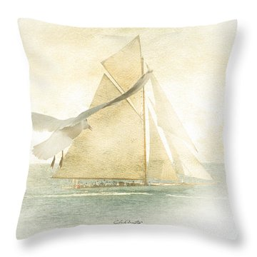 Throw Pillow featuring the painting Let Your Spirit Soar by Chris Armytage