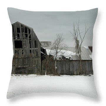 Letchworth Barn 0077b Throw Pillow