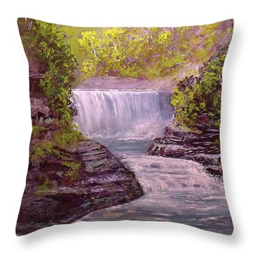 Letchworth State Park Throw Pillow