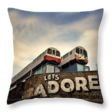 Lets Adore Shoreditch Throw Pillow