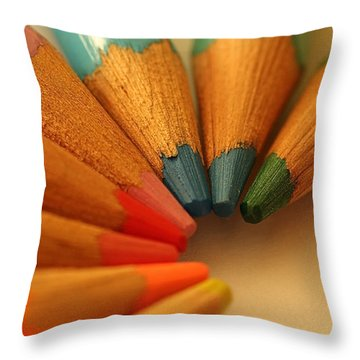 Lets Be Creative Throw Pillow by David Warrington