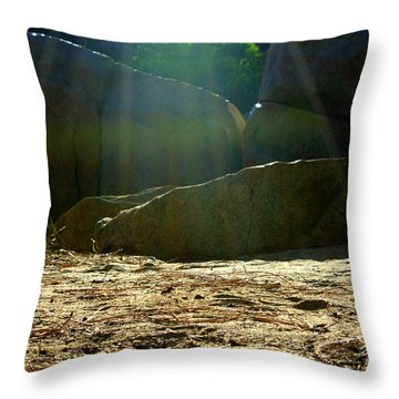 Let's Camp Throw Pillow