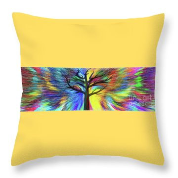 Throw Pillow featuring the photograph Let's Color This World By Kaye Menner by Kaye Menner