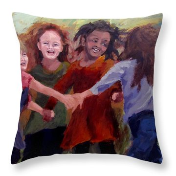 Lets Dance Throw Pillow by Karen Ilari