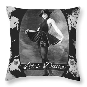 Throw Pillow featuring the digital art Lets Dance by Robert G Kernodle