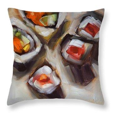 Let's Do Sushi Throw Pillow