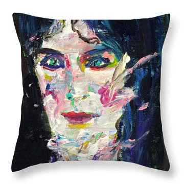 Throw Pillow featuring the painting Let's Feel Alive by Fabrizio Cassetta