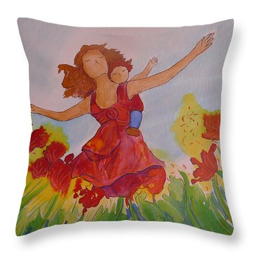 Let's Fly  Throw Pillow by Gioia Albano
