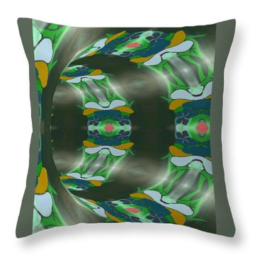 Let's Get Around It Abstract  Throw Pillow