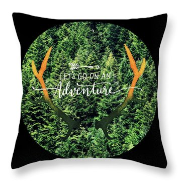 Throw Pillow featuring the photograph Let's Go On An Adventure by Robin Dickinson