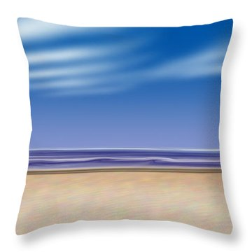 Let's Go To The Beach Throw Pillow by Saad Hasnain