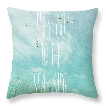 Throw Pillow featuring the photograph Let's Go To The Sea-side by Jan Amiss Photography