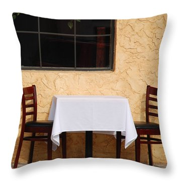 Lets Have Lunch Together Throw Pillow by Susanne Van Hulst