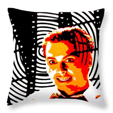 Throw Pillow featuring the painting Let's Make A Picture by Rick Baldwin
