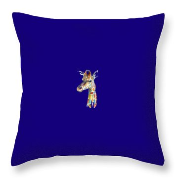 Let's Neck T-shirt Throw Pillow by Herb Strobino