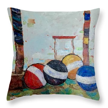 Let's Play Croquet Throw Pillow