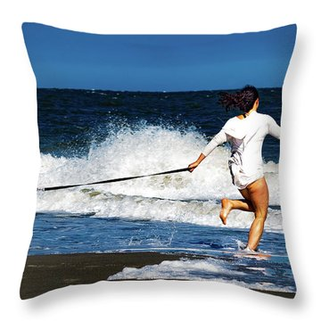 Let's Play In The Water Throw Pillow