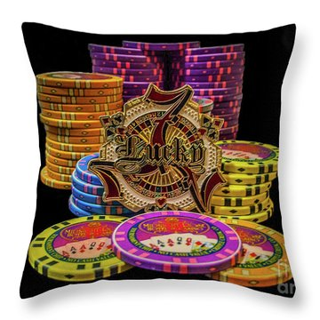 Lets Play Poker Throw Pillow