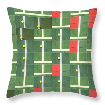 Let's Play Some Tennis Throw Pillow
