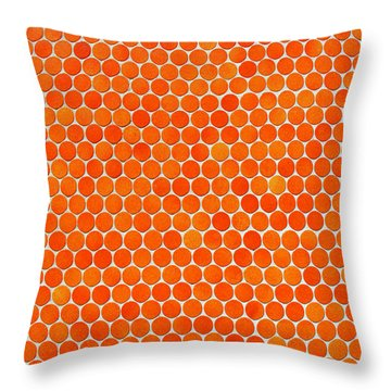 Let's Polka Dot Throw Pillow