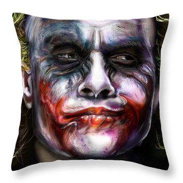 Let's Put A Smile On That Face Throw Pillow by Vinny John Usuriello