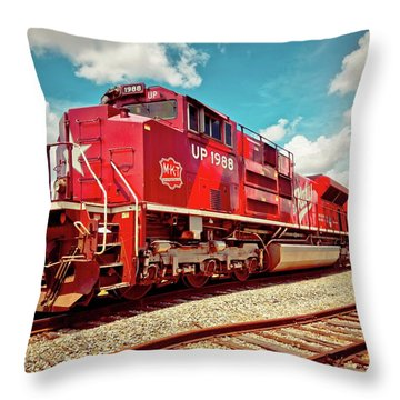 Let's Ride The Katy Throw Pillow by Linda Unger