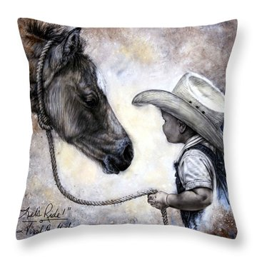 Lets Ride Throw Pillow by Virgil Stephens