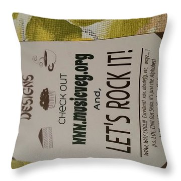 Let's Rock It Throw Pillow by Silvana Vienne