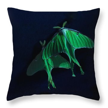 Throw Pillow featuring the photograph Let's Swim To The Moon by Susan Capuano