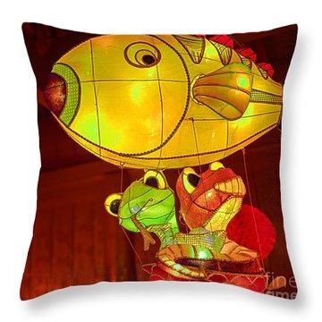 Lets Take A Ride Throw Pillow
