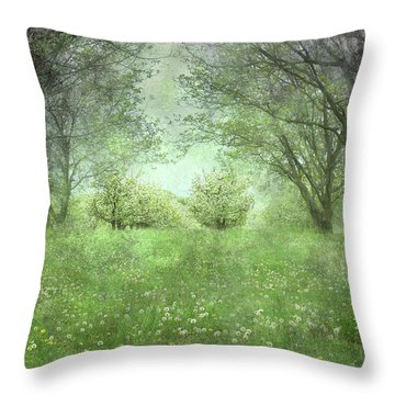 Let's Wed Here Throw Pillow