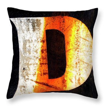Letter D Squared Throw Pillow