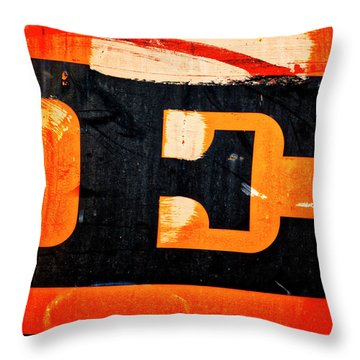 Throw Pillow featuring the photograph Letter E by Carol Leigh