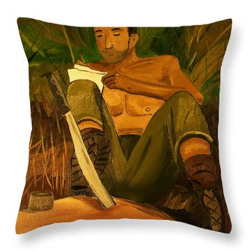 Letter Home Throw Pillow