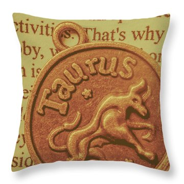 Letter Of Zodiac Taurus Throw Pillow