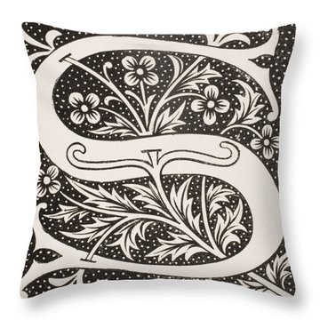 Letter S Throw Pillow