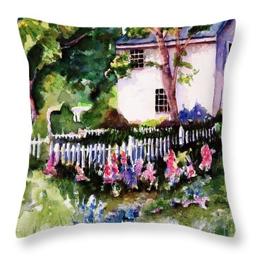 Throw Pillow featuring the painting Letterfrack Ireland by Marti Green