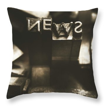 Letterpress And Vintage Journalism Throw Pillow