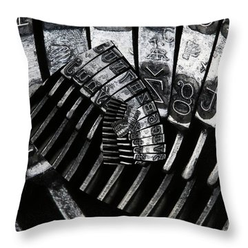 Letters Throw Pillow by Michal Boubin
