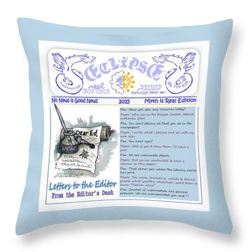 Real Fake News Letters To The Editor Throw Pillow