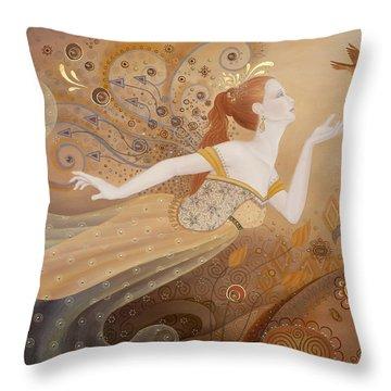 Letting Go Again Throw Pillow by BK Lusk