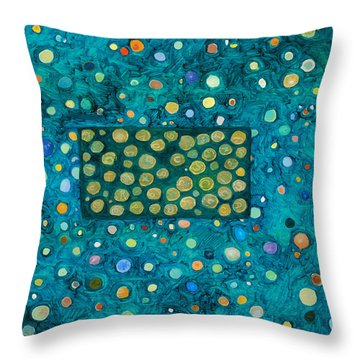 Letting Go Throw Pillow by Ishwar Malleret