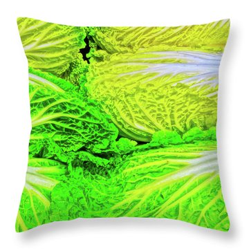 Lettuce 5 Throw Pillow by Bruce Iorio