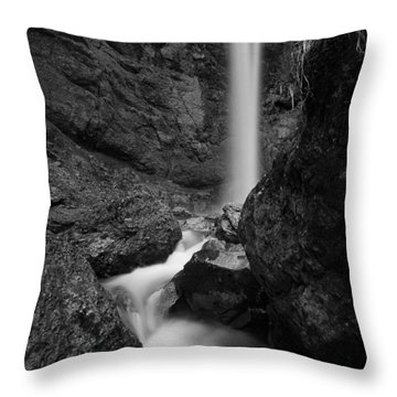 Leuenfall In Black And White Throw Pillow