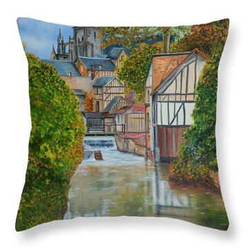L'eure A Louviers -  France Throw Pillow