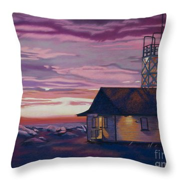 Leuty Life Guard House Throw Pillow by Tracy L Teeter