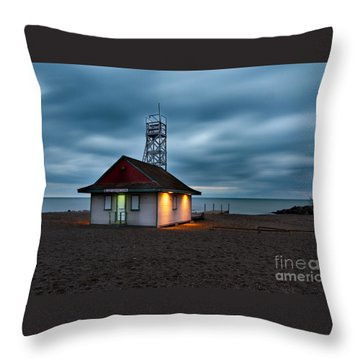 Leuty Life Saving Station Throw Pillow